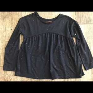 Long sleeve sparkly top!
